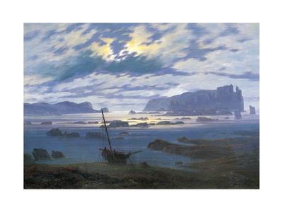 North Sea in Moonlight Giclee Print by Caspar David Friedrich