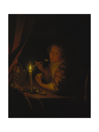 Girl by Candlelight Giclee Print by Godfried Schalcken