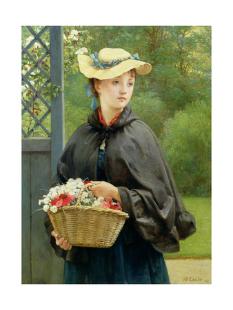 The Gardener's Daughter, 1876 Giclee Print by George Dunlop Leslie