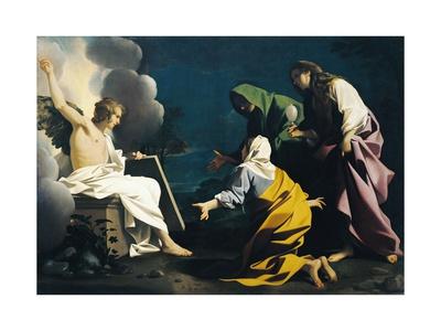 Three Marys at Tomb Lámina giclée por Bartolomeo Schedoni