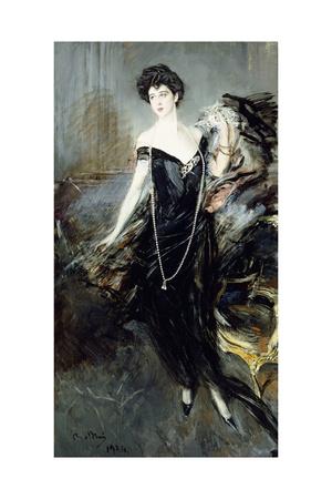 Portrait of Donna Franca Florio, 1924 Giclee Print by Giovanni Boldini