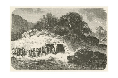 Un Tumulus a L'Epoque De La Pierre Polie Giclee Print by Emile Antoine Bayard