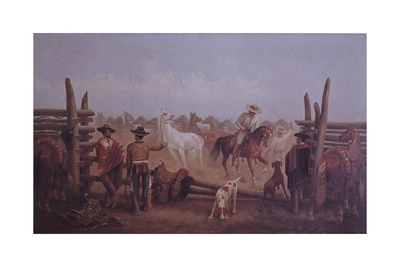 Tejano Ranchers, 1877 Giclee Print by James Walker