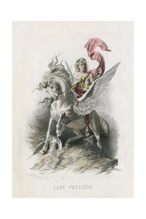 L'Art Poetique Giclee Print by Emile Antoine Bayard