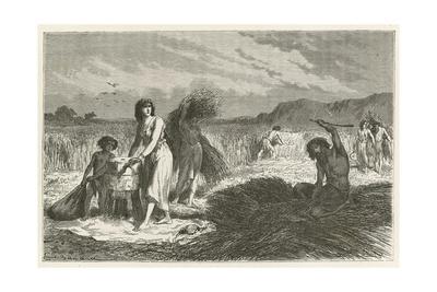 L'Agriculture a L'Epoque Du Fer Giclee Print by Emile Antoine Bayard