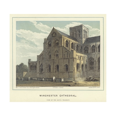 Winchester Cathedral, View of the North Transept Giclee Print by Hablot Knight Browne