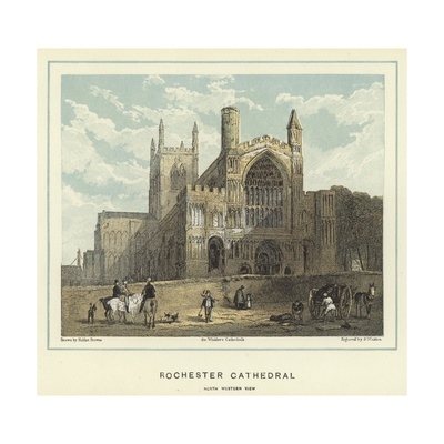 Rochester Cathedral, North Western View Giclee Print by Hablot Knight Browne