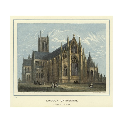 Lincoln Cathedral, South East View Giclee Print by Hablot Knight Browne