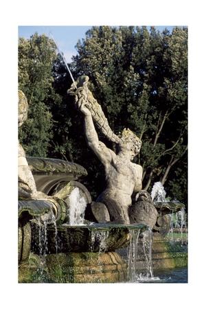 Atlas Fountain Giclee Print by John Thomas