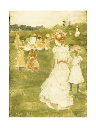 Figures in the Park, C.1895-97 Giclee Print by Maurice Brazil Prendergast