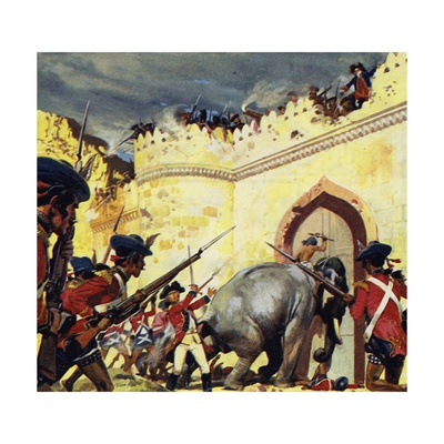 The Siege of Arcot Lasted for Fifty Days Giclee Print by Alberto Salinas
