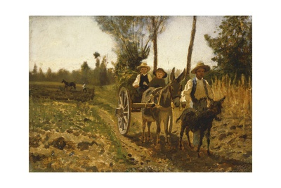 Returning from Fields Giclee Print by Guglielmo Ciardi