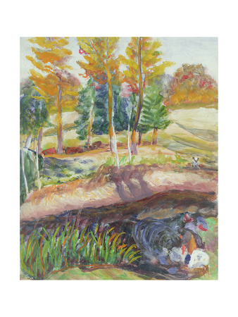 Three Washerwomen on the Banks of a River Giclee Print by Roderic O'Conor