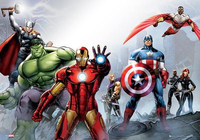 Marvel - Group Foil Poster Prints