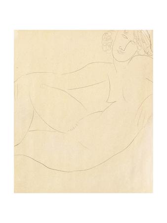 Femme Nue Accoudee, 1918 Stampa giclée di Amedeo Modigliani