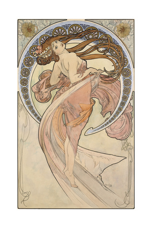 La Danse, 1898 Giclee Print by Alphonse Mucha