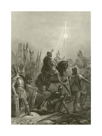 Conversion of the Emperor Constantine, 312 Giclee Print by Alonzo Chappel