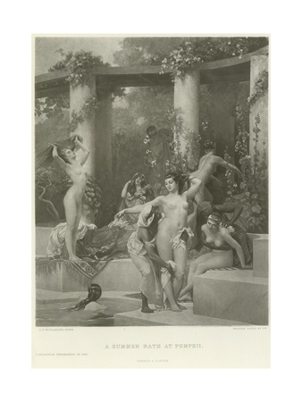A Summer Bath at Pompeii Giclee Print by Gustave Clarence Rodolphe Boulanger