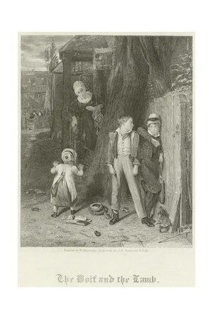 The Wolf and the Lamb Giclee Print by William Mulready
