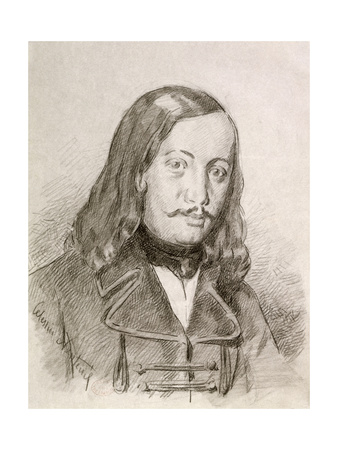 Theophile Gautier Giclee Print by Celestin Francois Nanteuil