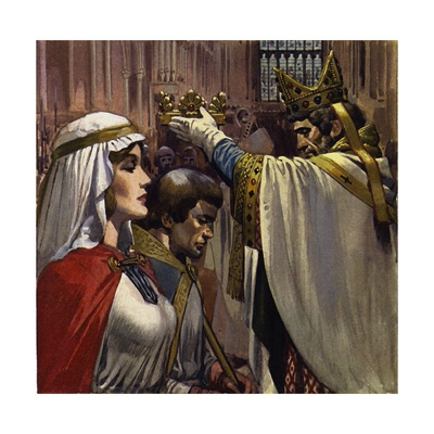 Eleanor Subsequently Married Henry of Anjou Giclee Print by Alberto Salinas