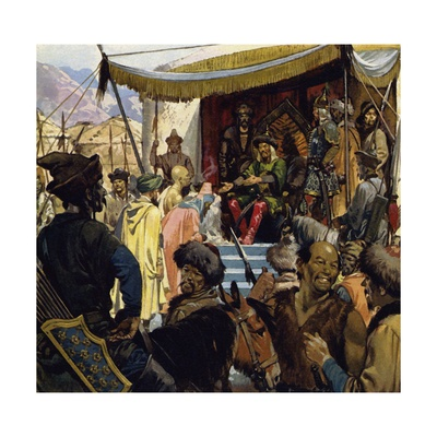At 45 Genghis Khan Was the Ruler of a Vast Empire Giclee Print by Alberto Salinas