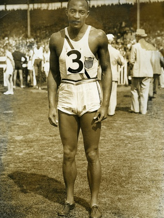 Jesse Owens at the Berlin Olympics, 1936 Photographic Print