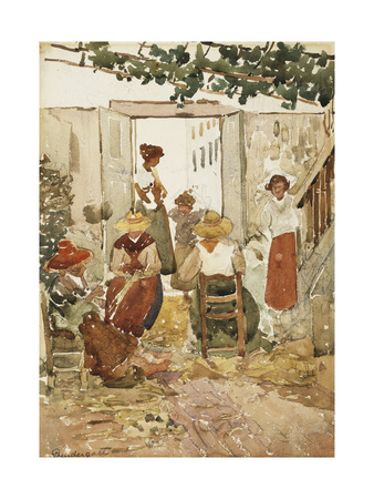 Lacemakers, Venice, 1898 Giclee Print by Maurice Brazil Prendergast