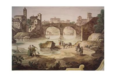View of Rome Giclee Print by Giuseppe Zais