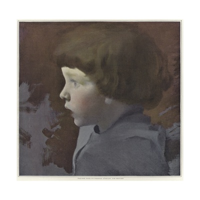 Sketch for a Portrait of a Child Giclee Print by Paul Albert Besnard
