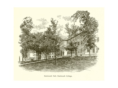 Dartmouth Hall, Dartmouth College Giclee Print