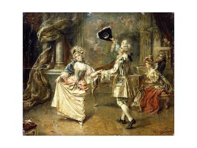 The Start of the Dance Giclee Print by Eduardo-leon Garrido