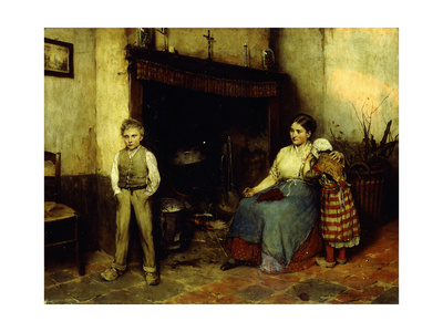 Trouble Brewing, 1883 Giclee Print by Evariste Carpentier
