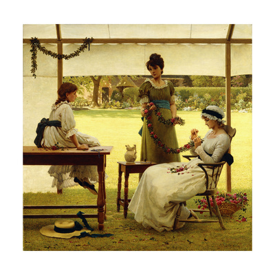 The Garland Giclee Print by George Dunlop Leslie