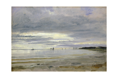 The Beach at Blankenese, 8th October 1842 Giclee Print by Jacob Gensler