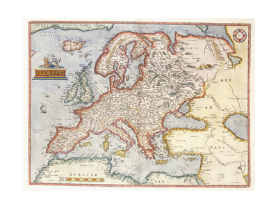 Map of Europe, 1587 Giclee Print by Abraham Ortelius