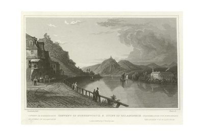 Convent of Nonnenworth and Ruins of Rolandseck Giclee Print by William Tombleson