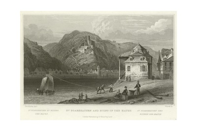 St Goarshausen and Ruins of the Katze Giclee Print by William Tombleson
