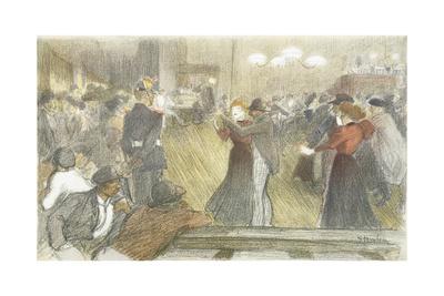 Local Dance, 1897-1899 Giclee Print by Théophile Alexandre Steinlen
