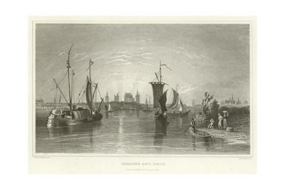 Cologne and Deuz Giclee Print by William Tombleson
