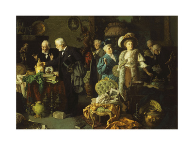 The Connoisseurs Giclee Print by Louis Charles Moeller