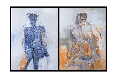 Diptych of Duncan Hume Dancing Aged 38, 2011 Giclee Print by Stephen Finer