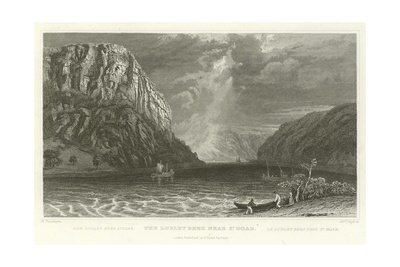 The Lurley Berg Near St Goar Giclee Print by William Tombleson