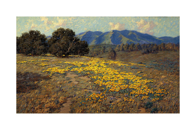California Poppies Giclee Print by Granville Redmond