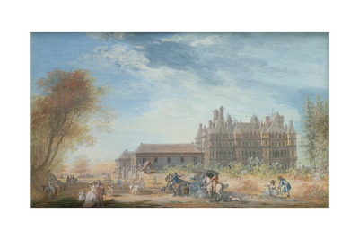 The Chateau De Madrid Giclee Print by Louis-Nicolas de Lespinasse
