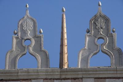 Finials on the Roof of the Doge's Palace, Venice Photographic Print
