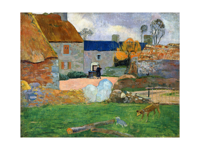 The Blue Roof or Pouldu Farm, 1890 Giclee Print by Paul Gauguin