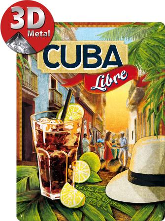 Cuba Libre Tin Sign