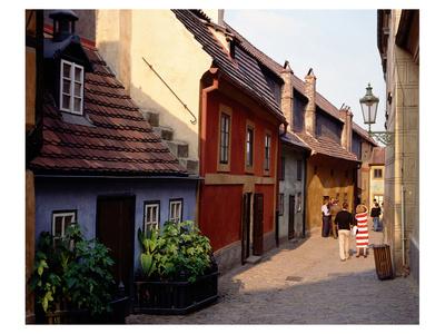 Golden Lane, Prague Castle, Prague, Central Bohemia, Czech Republic Prints