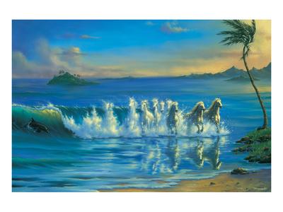 Galloping Waves Poster by Jim Warren
